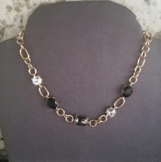 Periwinkle by barlow NWT Gold Periwinkle Crystal Necklace / Choker Image 2
