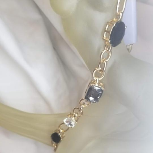 Periwinkle by barlow NWT Gold Periwinkle Crystal Necklace / Choker Image 4