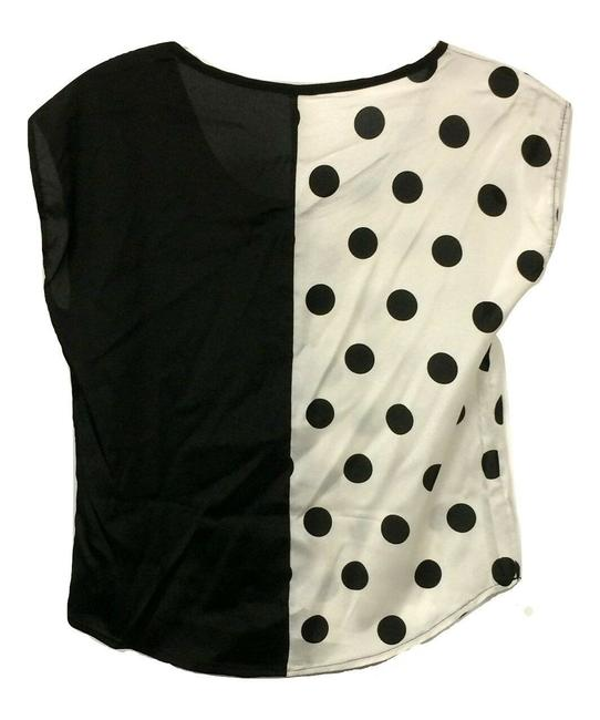 B*Envied Art Deco Polyester 50's Retro Sleeveless Top Black and White Image 1