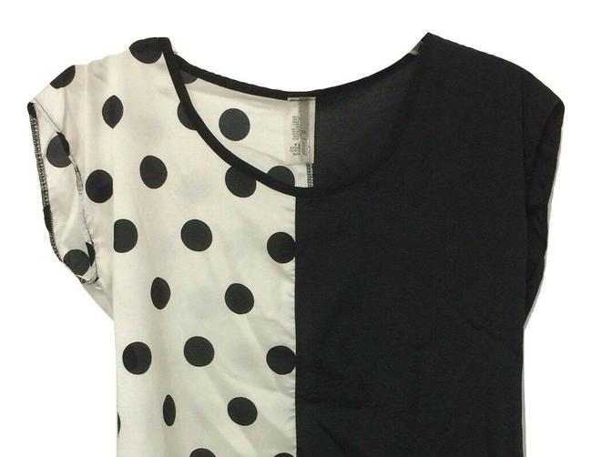 B*Envied Art Deco Polyester 50's Retro Sleeveless Top Black and White Image 2
