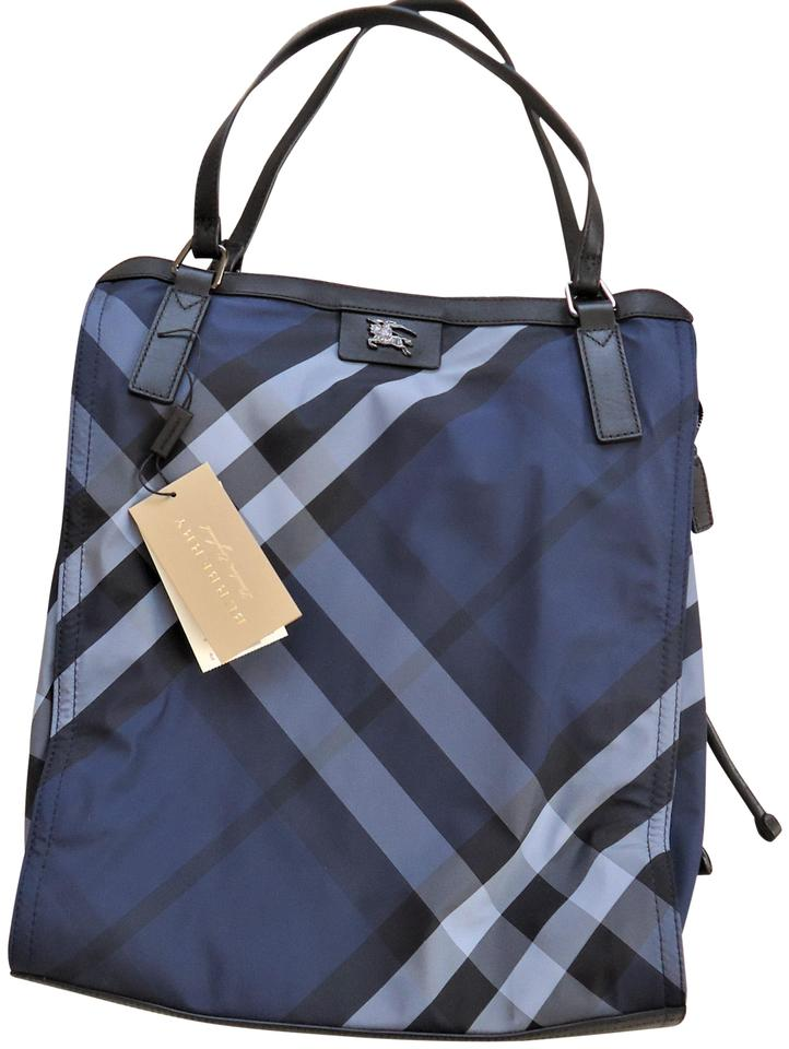 f8568d389 Burberry Small Buckleigh Tote Blue Nylon Shoulder Bag - Tradesy