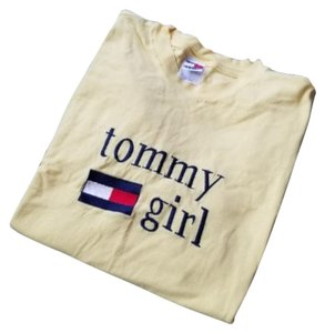 Tommy Hilfiger Vintage Vintage Girl 1990s T Shirt Yellow