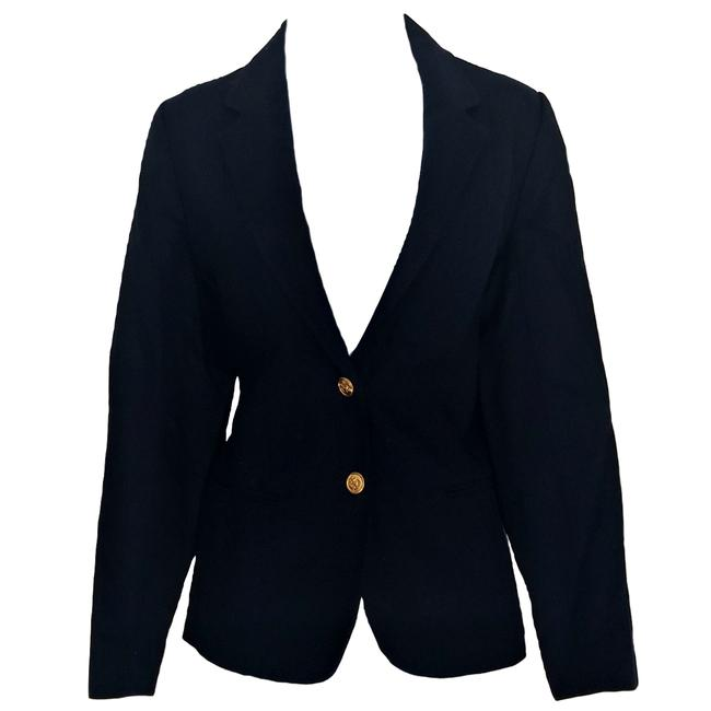 Preload https://img-static.tradesy.com/item/24862998/larry-levine-blue-vintage-fitted-jacket-navy-tailored-1980s-slim-80s-blazer-size-4-s-0-0-650-650.jpg