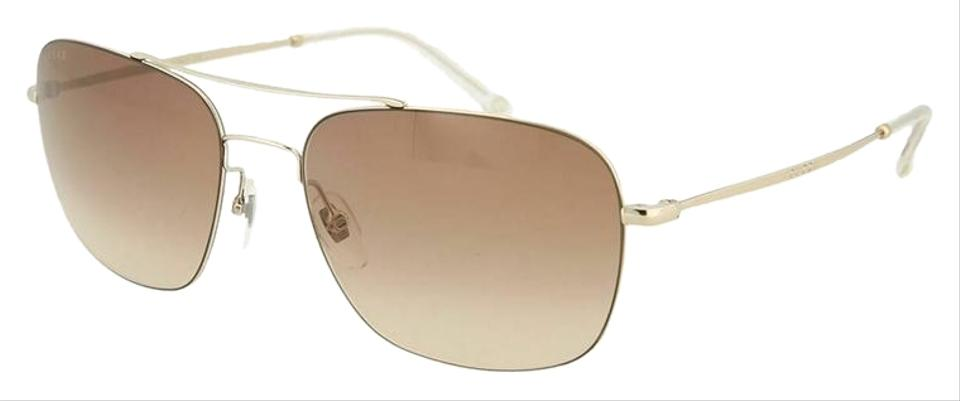 5e646dd7cdc5c Gucci Pale Gold Frame   Brown Gradient Lens Gg0503s-001 Square ...