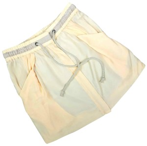 See by Chloé Made In Italy Silk Summer Mini Skirt Beige