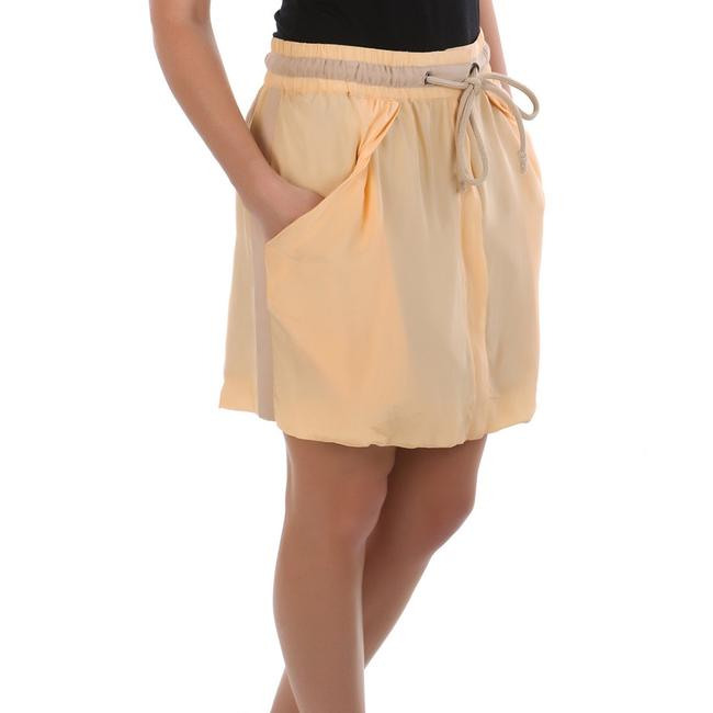 See by Chloé Made In Italy Silk Summer Mini Skirt Beige Image 1