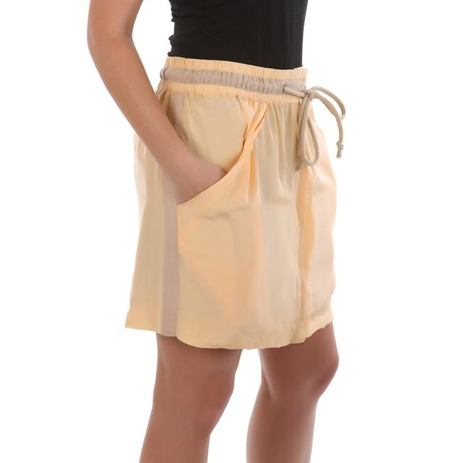 See by Chloé Made In Italy Silk Summer Mini Skirt Beige Image 2