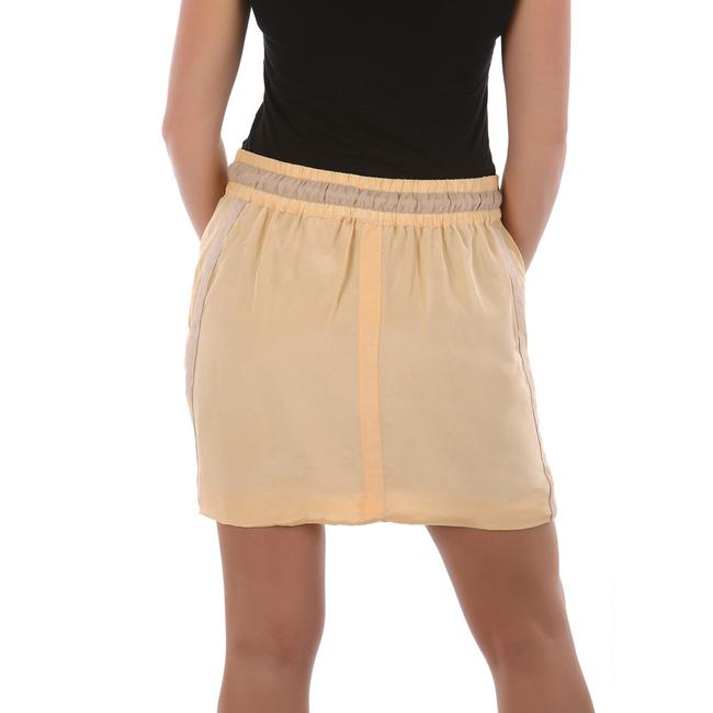See by Chloé Made In Italy Silk Summer Mini Skirt Beige Image 3