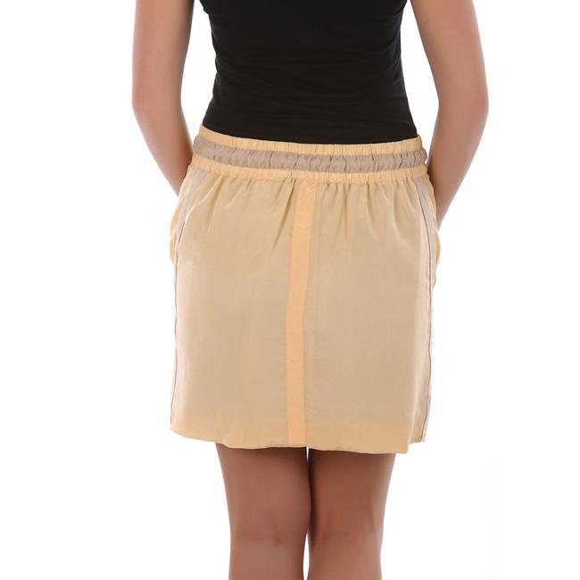 See by Chloé Made In Italy Silk Summer Mini Skirt Beige Image 4
