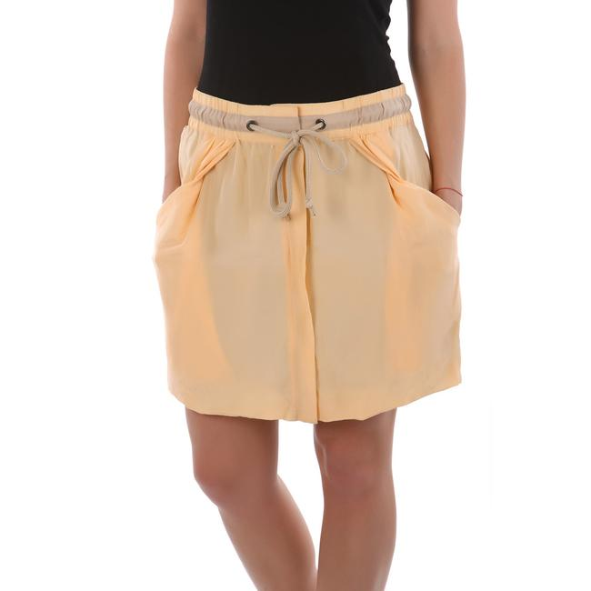 See by Chloé Made In Italy Silk Summer Mini Skirt Beige Image 5
