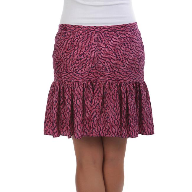 See by Chloé Made In Italy Silk Summer Mini Skirt Purple & Navy Image 2