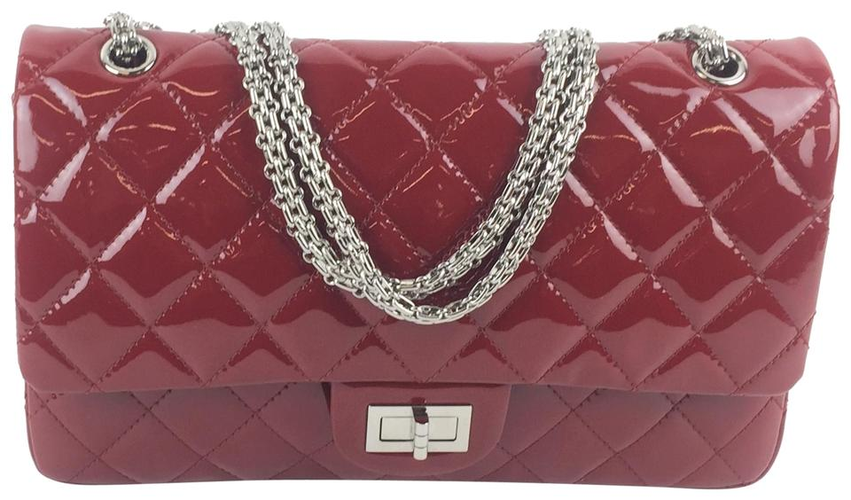 7bd6a472d16395 Chanel 2.55 Reissue Double Flap 2.27 Jumbo Red Patent Leather Shoulder Bag