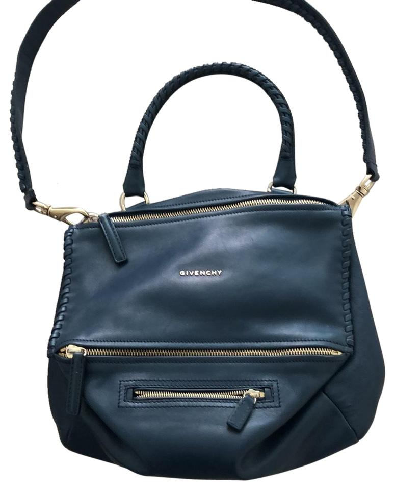 cf72ff4cad09 Givenchy Large Pandora Navy Blue Leather Braided Leather Cross Body ...
