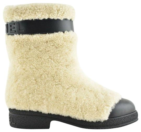 Chanel Gabrielle Stiletto Ankle Midcalf Beige Boots Image 0