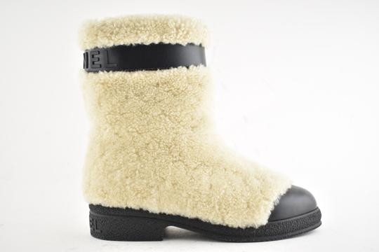 Chanel Gabrielle Stiletto Ankle Midcalf Beige Boots Image 3
