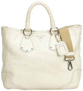 dd0f045856c5 White Prada Bags - Up to 90% off at Tradesy