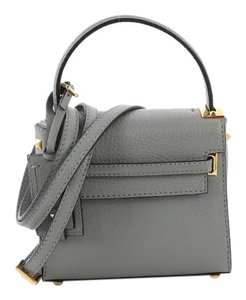 Valentino Leather Satchel in Blue Gray