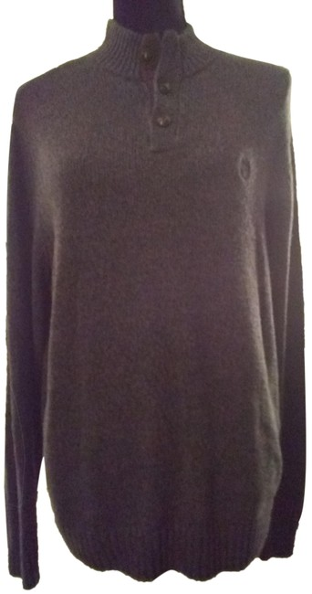 Item - With Patch Sleeves Size M Gray Sweater