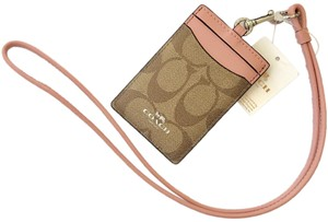 609dec9ba4028 Coach Coach Card Holder ID Card Wallet Wristlet Necklace with Lanyard Strap