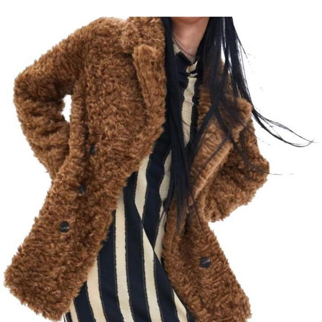 Item - Brown New with Tags Faux Fur Wrap Coat Size 4 (S)