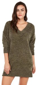 Express short dress Olive Green Sweater Textured on Tradesy