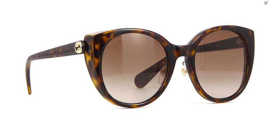 12ea0aadba Gucci Tortoise Shell 2019 Release Style Gg0369s - Free 3 Day Shipping Semi Cat  Eye Sunglasses