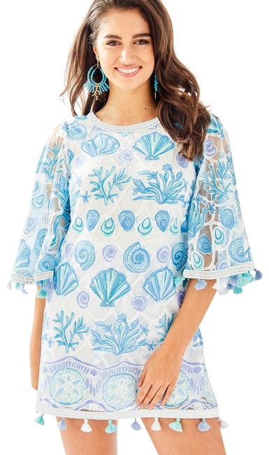 Item - Blue and White Jackelin Size2 Romper/Jumpsuit