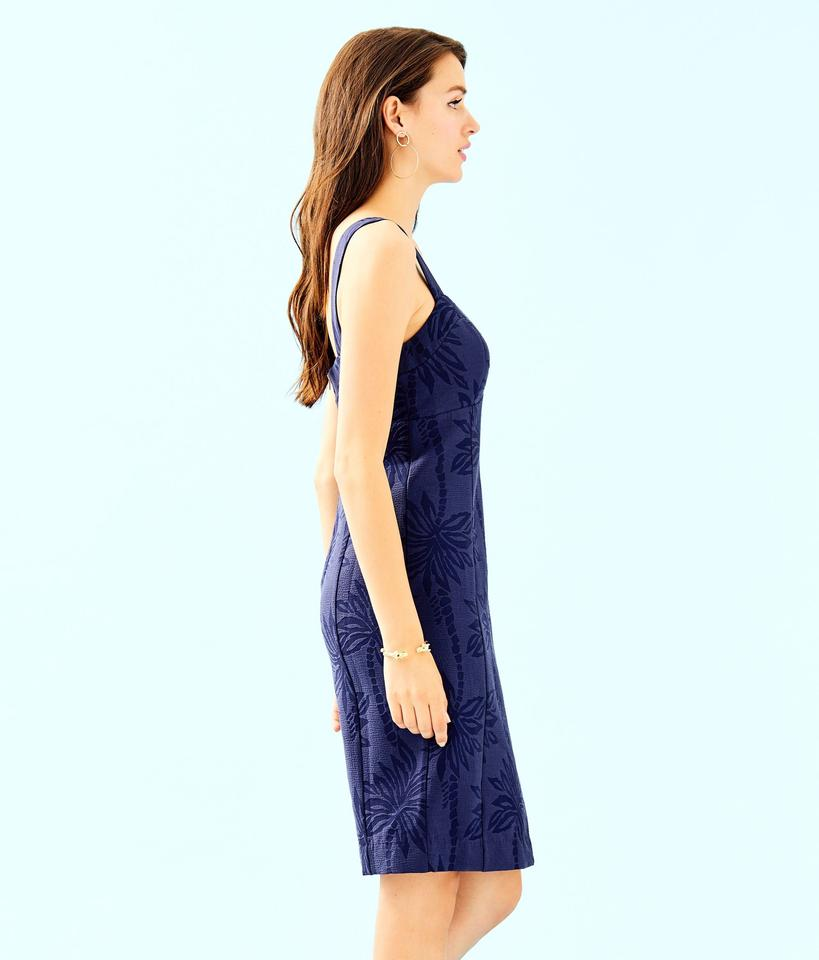 4785a35190cc Lilly Pulitzer Navy Annalee Stretch Mid-length Cocktail Dress Size 12 (L) -  Tradesy