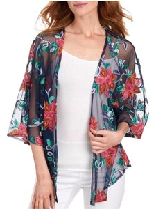 24e0d6030554d Bloomingdale's Blue Chenault Embroidered Mesh Cover-up/Sarong Size 8 ...