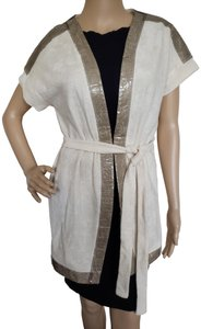 Chanel Sleeveless Interlocking Cc Embroidered Belted Metallic Dress