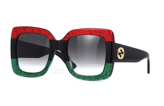 Gucci Large Square Style GG0083s - SHIPS IMMEDIATELY - Glitter Sunglasses