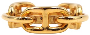 Hermès Chaine d'Ancre gold chain scarf ring round