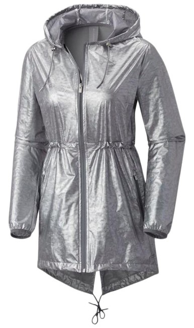Item - Silver New Mosaic Avenue Jacket Lightweight Omni Windbreaker Activewear Size 6 (S)