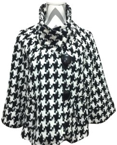 Multiples Large Buttons Black and White Jacket