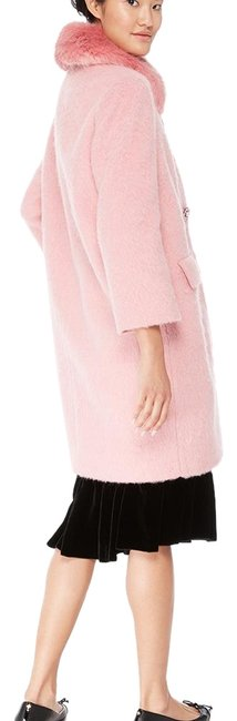 Item - Pink Tulip Jewel Buttons Wool Faux Trim New 2018 Coat Size 4 (S)