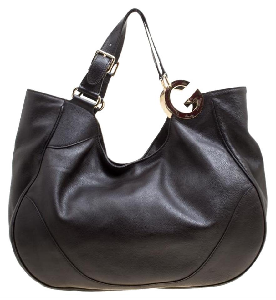 d690d562ab1 Gucci Brown Leather and Fabric Hobo Bag - Tradesy
