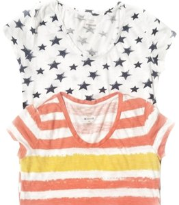 Style & Co T Shirt white, orange, yellow, navy