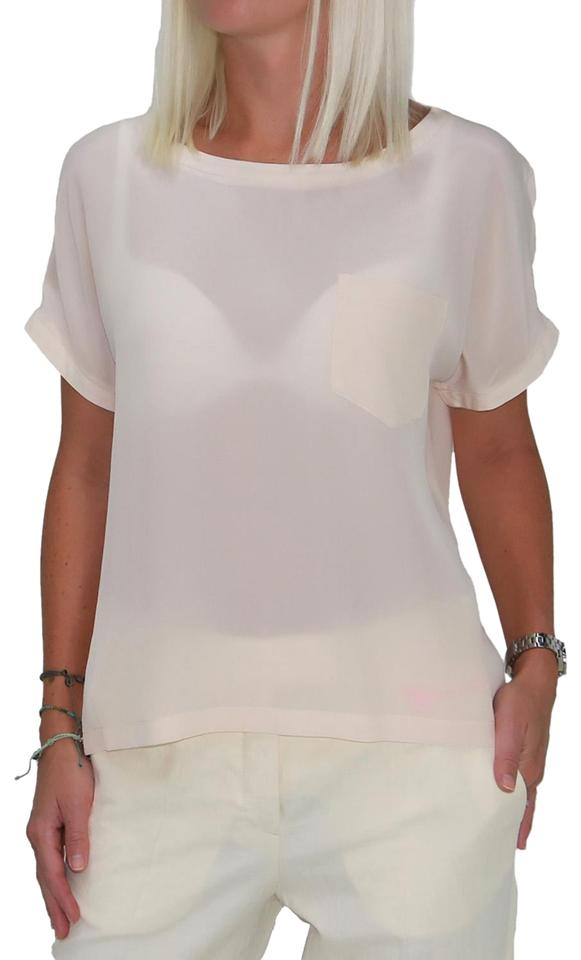16f17ad1d2961 See by Chloé Beige New Women s Short Sleeves Silk Blouse. Size  4 (S) ...
