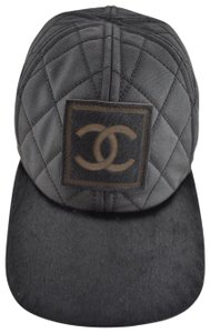Chanel Chanel 06A Casquette Quilted CC Logo Pony Hair Fur Baseball Cap Hat M 022533a9f91