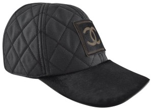 8e353771c14 Chanel Chanel 06A Casquette Quilted CC Logo Pony Hair Fur Baseball Cap Hat M