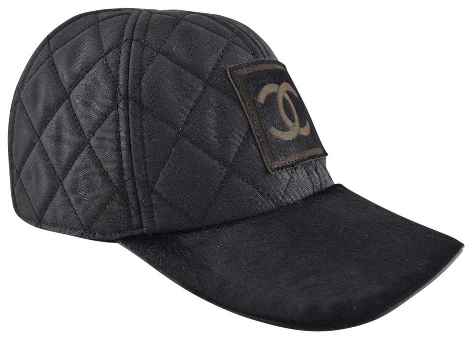 Chanel Chanel 06A Casquette Quilted CC Logo Pony Hair Fur Baseball Cap Hat  M ... e97e81a79c4