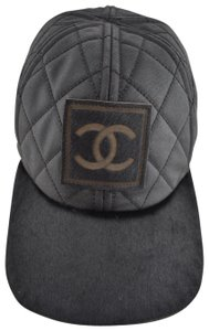 bfb44145811 Chanel Chanel 06A Casquette Quilted CC Logo Pony Hair Fur Baseball Cap Hat M