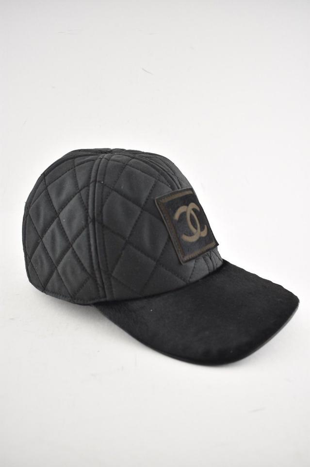 84cd2d60ccc Chanel Chanel 06A Casquette Quilted CC Logo Pony Hair Fur Baseball Cap Hat  M Image 11. 123456789101112