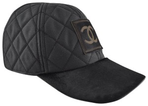 Chanel Chanel 06A Casquette Quilted CC Logo Pony Hair Fur Baseball Cap Hat M ca8655750f6