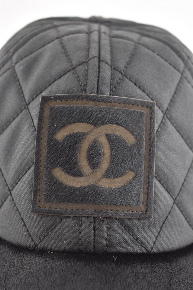 b4990e824a6 Chanel Chanel 06A Casquette Quilted CC Logo Pony Hair Fur Baseball Cap Hat  M Image 11. 123456789101112