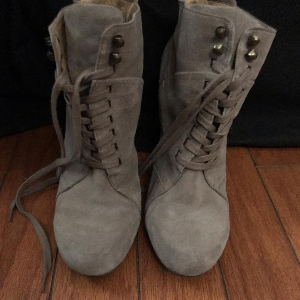 07dbbc72995af Nine West Taupe Lace Up Ankle Boots/Booties Size US 9 Regular (M, B) 75%  off retail