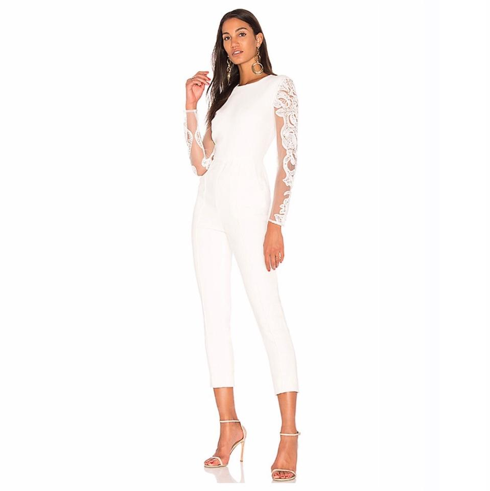 48e22299e277 Misha Collection Ivory Geena Lace Romper Jumpsuit - Tradesy