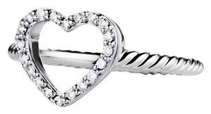 David Yurman David Yurman cable collections size 6.25 Heart Ring with diamonds