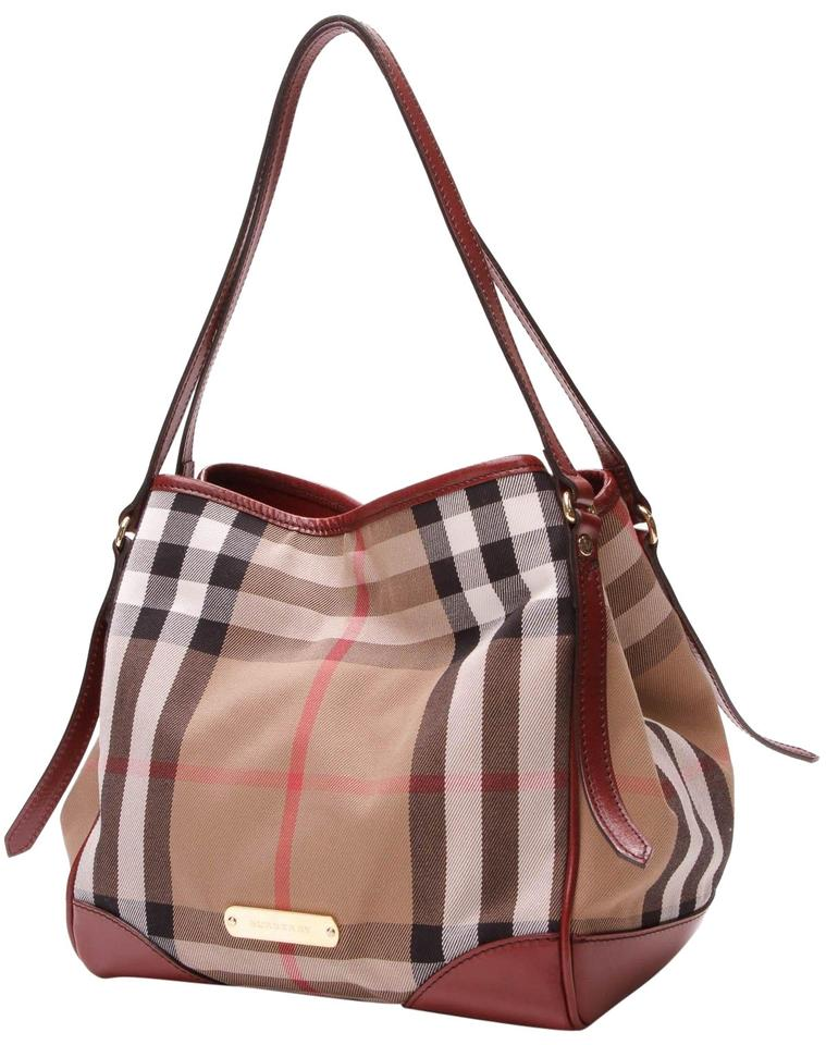 5ca2359bd641 Burberry Canterbury - Bridle House Check Beige Canvas Tote - Tradesy