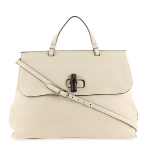 Gucci Handlebag Leather Satchel in White